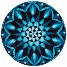 Vopi Koberec s protiskluzovou úpravou Mandala POZNÁNÍ - modrý 60 cm
