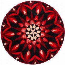 Vopi Koberec s protiskluzovou úpravou Mandala POZNÁNÍ - červený 80 cm