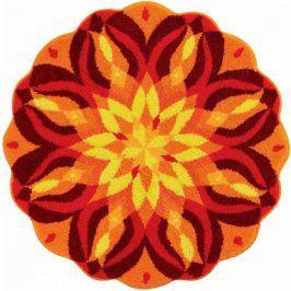 Vopi Koberec s protiskluzovou úpravou Mandala SEBEREALIZACE - oranžový 100 cm