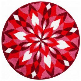 Vopi Koberec s protiskluzovou úpravou Mandala KŘÍDLA RADOSTI - červený 60 cm