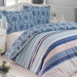 Bavlněné  povlečení ARAS modré 140 x 200 cm, 70 x 90 cm
