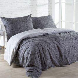 Bavlněné  povlečení ORNAMENT černobílé 140 x 220 cm, 70 x 90 cm