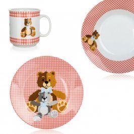 BANQUET Dětská jídelní sada Medvídci 3 ks červená