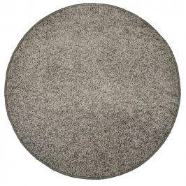 Vopi Kulatý koberec SHAGGY šedý průměr - 120 cm