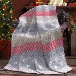 Vánoční deka Lappi 150x200 cm šedá
