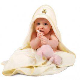 Dětská osuška Maxi s kapucí 100x100 cm bílá