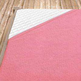 Napínací froté prostěradlo světle růžové dětská postýlka Bavlna - froté