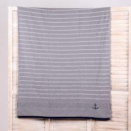 Plážová osuška Stripe šedá 90x170 cm šedá