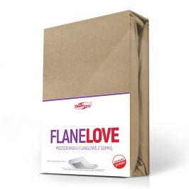 Flanelové prostěradlo napínací béžové 90x200 cm jednolůžko - standard Flanel