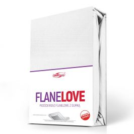 Flanelové prostěradlo napínací bílé 90x200 cm jednolůžko - standard Flanel
