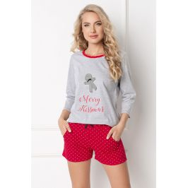 Dámské pyžamo Cookie krátké  šedá