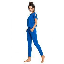 Dámské pyžamo Monika dlouhé  modrá