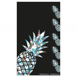 Plážová osuška Pineapple 100x170 cm černá