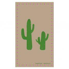 Plážová osuška Cactus 100x170 cm hnědá
