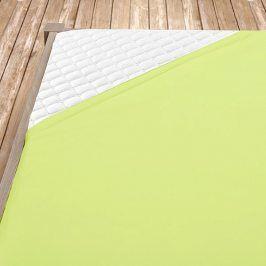 Napínací jersey prostěradlo světle zelené Dvojlůžko Bavlna - jersey