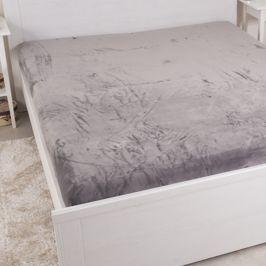 Mikroflanelové prostěradlo šedé 180x200 cm dvojlůžko - standard mikroflanel