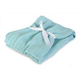 Pletená dětská deka Tully mátová dětská deka mátová