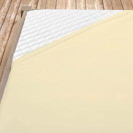 Flanelové prostěradlo krémové Jednolůžko - standard Bavlna - flanel