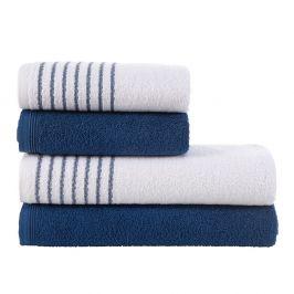 Sada ručníků a osušek Eleganza modrá Set modrá