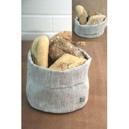 Lněný košík na pečivo Home Design 14x20 cm béžová