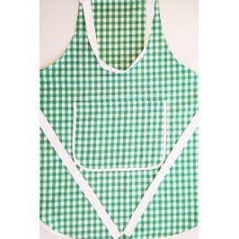 Kuchyňská zástěra Kanafas zelená 70x80 cm zelená