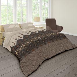 Povlečení Coffee 140x200 jednolůžko - standard bavlna
