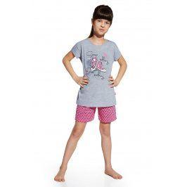 Dívčí pyžamo Shoes  šedorůžová