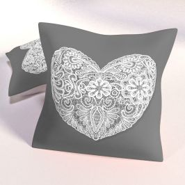 Dekorační polštář Hearts 40x40 cm polyester