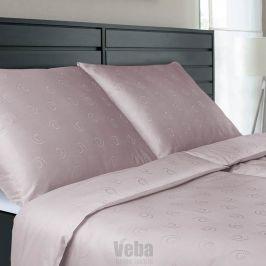 Povlečení tencel Snail růžové 140x200 jednolůžko - standard bavlna