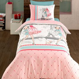 Povlečení Shopping 140x200 jednolůžko - standard bavlna