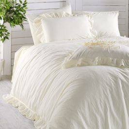 Povlečení Stonewash Exclusive Bílé 220x200 dvojlůžko - standard bavlna