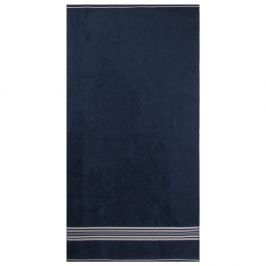 Plážová osuška Fisheman modrá 90x170 cm modrá