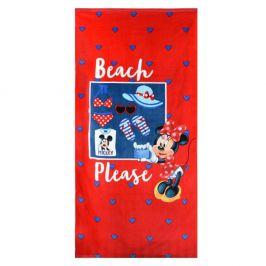 Dívčí plážová osuška Minnie 70x140 cm froté