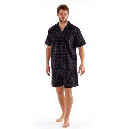 Pánské pyžamo Harvey Black Check  černá