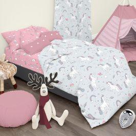 Dětské povlečení Unicorn 140x200 jednolůžko - standard bavlna