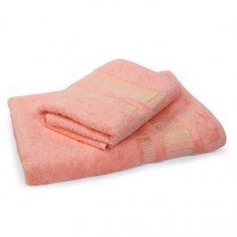 Bambusový ručník Jambi lososový 50x90 cm Ručník