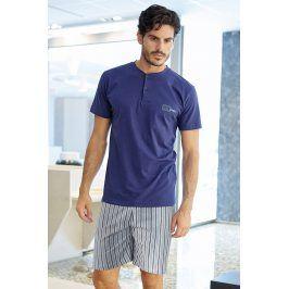 Pánské italské pyžamo Simone  světlemodrá