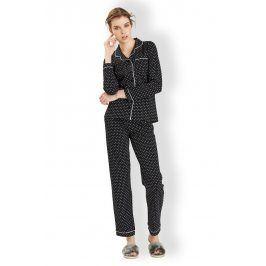 Dámské italské pyžamo Hearts black  černá