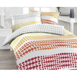 Povlečení Felix oranžové 140x200 jednolůžko - standard bavlna