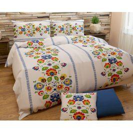 Povlečení Folklor 140x200 jednolůžko - standard bavlna