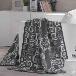 Vánoční deka Olleh 150x200 cm šedá