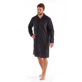 Pánská noční košile Harvey Black Stripe  černá