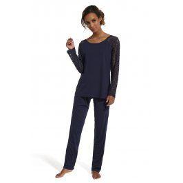 Dámské elegantní pyžamo Lena  navy