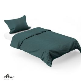 Povlečení ELKA LOUNGE Green 140x200 jednolůžko - standard Bavlněný satén