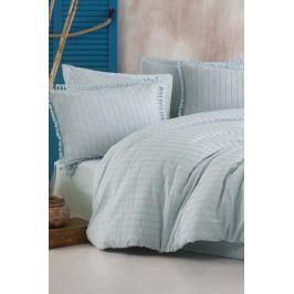 Luxusní povlečení Estina světle modré 140x200 jednolůžko - standard bavlna