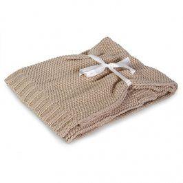 Pletená dětská deka Tully béžová dětská deka ecru