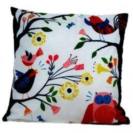 Povlak na polštářek Owl Flowers 42x42 cm Polyester