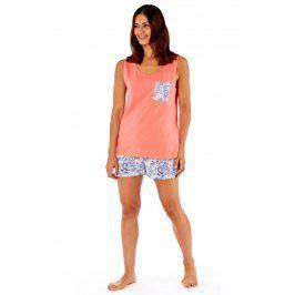 Dámské bavlněné pyžamo Paisley  korálová
