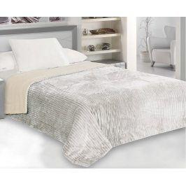 Přehoz Capri na jednolůžko krémovo-šedý 160x200 cm polyester