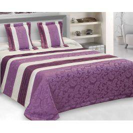 Žakárový přehoz Taffeta fialový 200x220 cm polyester